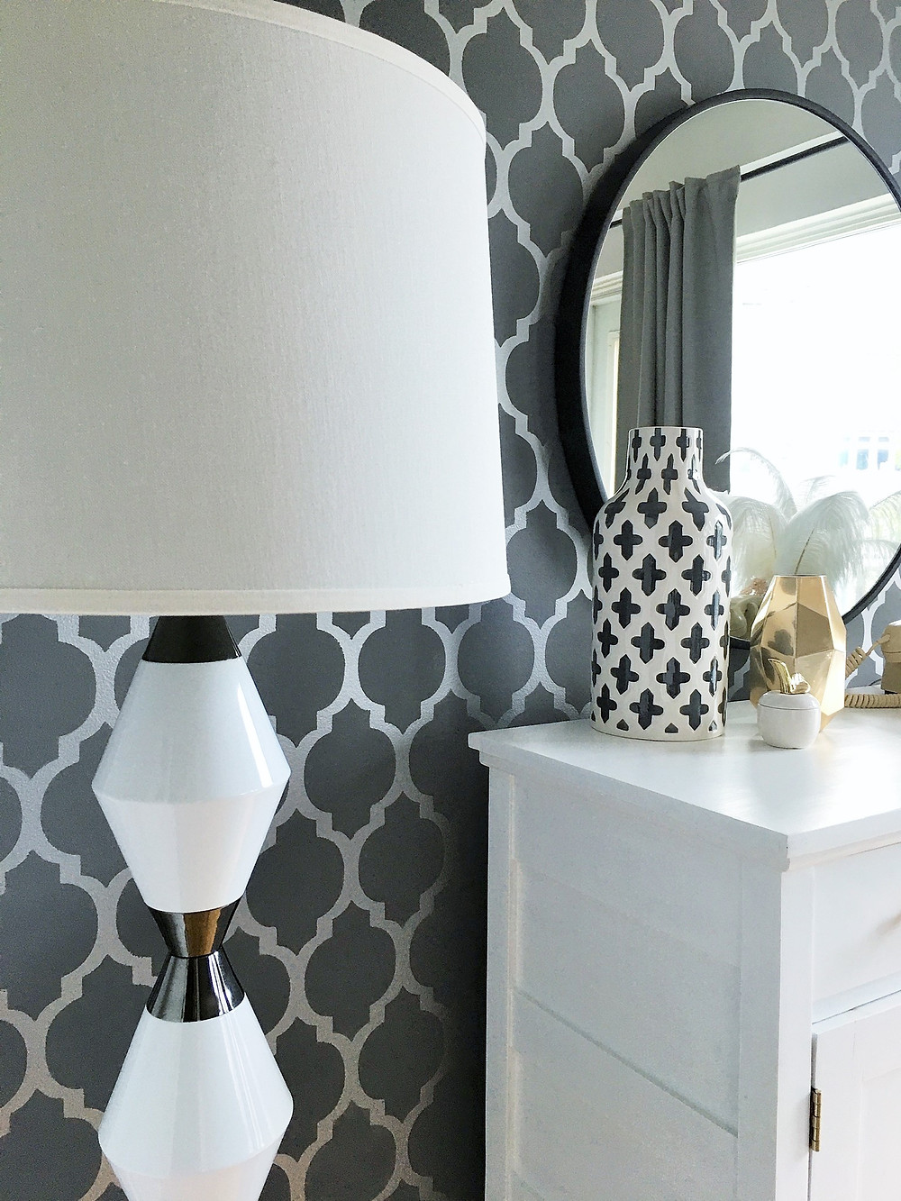 floor lamp in dining room