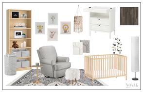 neutral nursery mood board