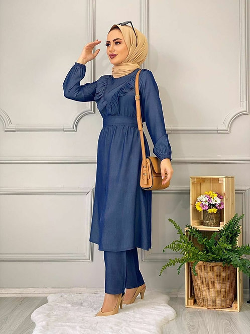 Ruffled Hijab Dress