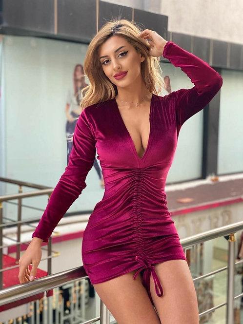 Roll Up Short Dress
