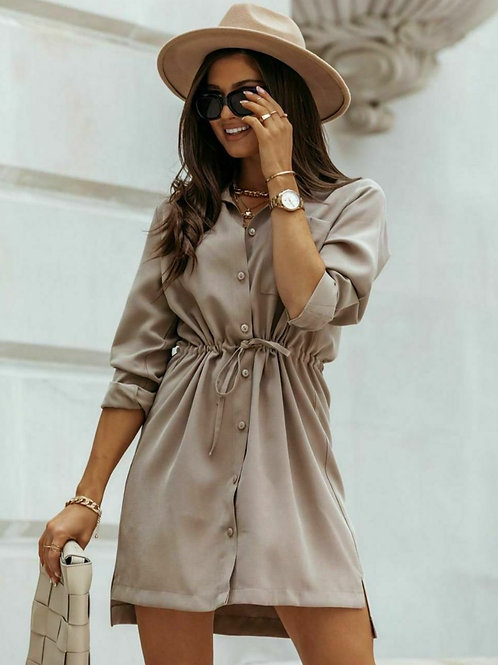 Tied Shirt Dress