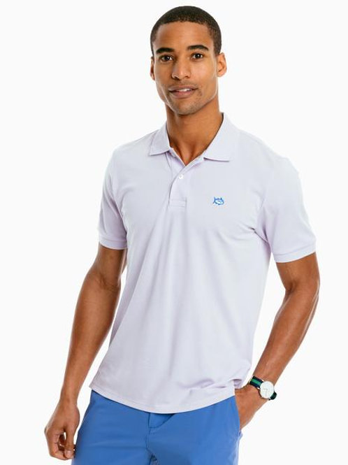 Solid Performance Polo in lilac