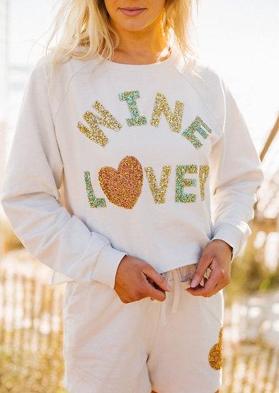 Wine Lover Embellished Sweatshirt