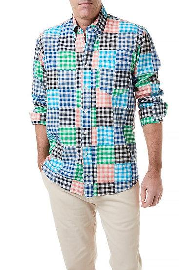 Gingham Patchwork Shirt
