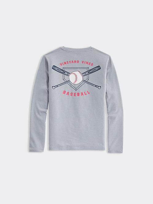 Boys' VV Baseball Long-Sleeve Performance Tee