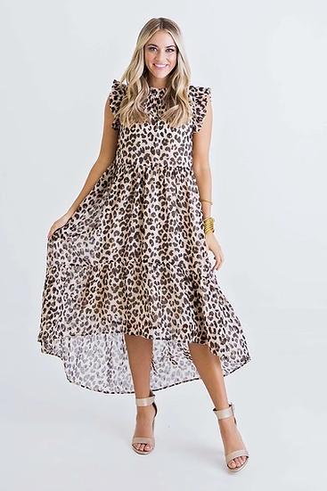 Leopard Hi/Lo Dress