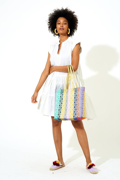 Roll Sleeve White Dress