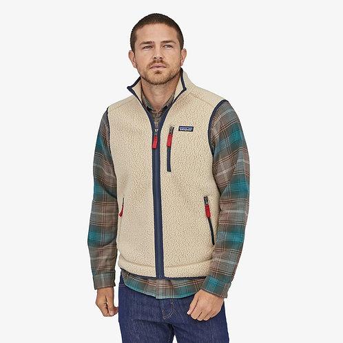 Retro Pile Fleece Vest in El Cap Khaki