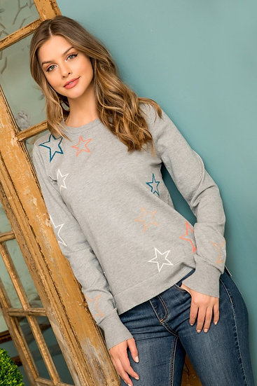 Multi Color Star Sweater