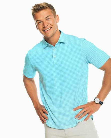 Gingham Performance Golf Shirt