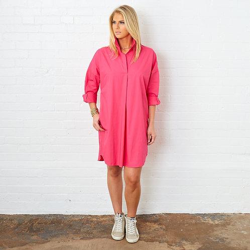 Preppy Star Dress Hot Pink
