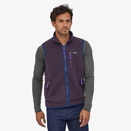 Retro Pile Fleece Vest In Piton Purple