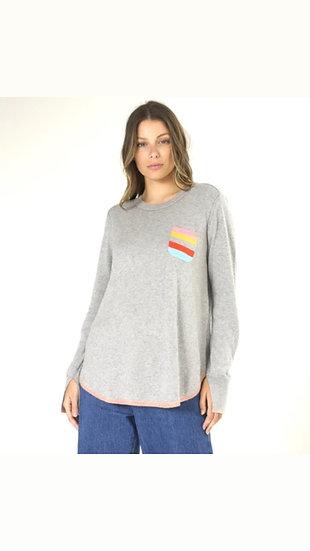 Stripe Pocket Sweater