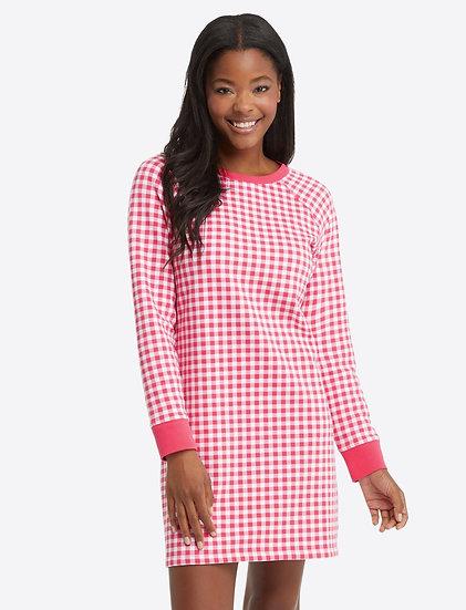 Natalie Sweatshirt Dress in Gingham