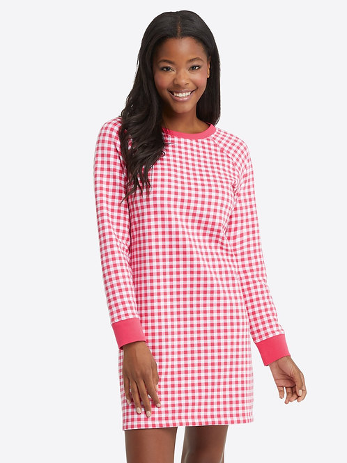 Natalie Sweatshirt Dress in Gingham