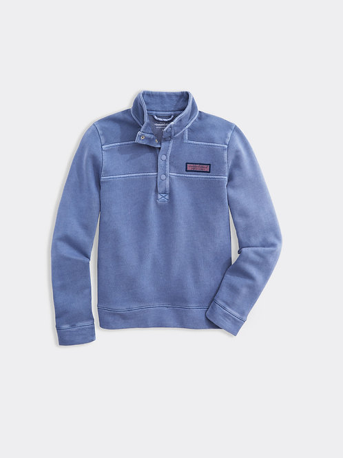Boys' Garment-Dyed Snap Placket Shep Shirt