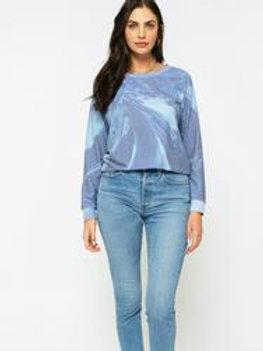 Blue Hacci Pullover