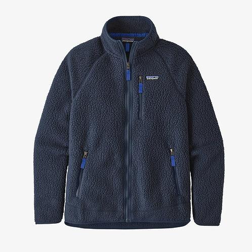 Retro Pile Fleece Jacket in navy