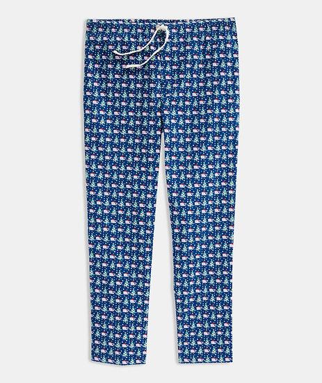 Printed Pajama Bottoms