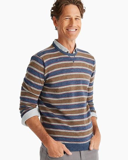 Cy Striped Crewneck Sweater