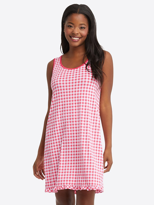 Alison Nightgown in Raspberry Gingham