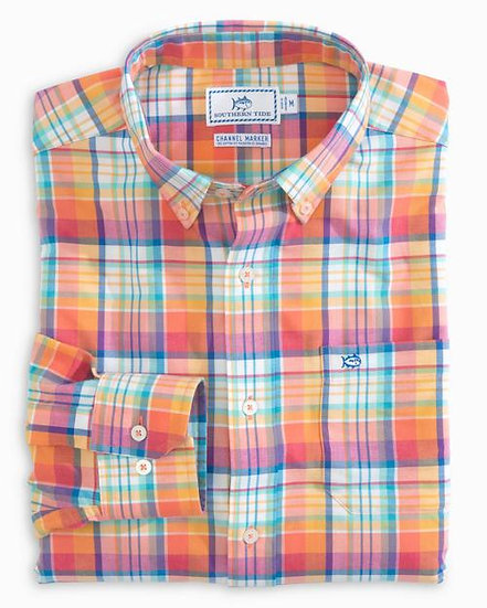 Mixed Plaid Sport Shirt