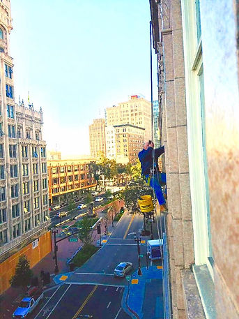 commercial window cleaning, commercial window washing