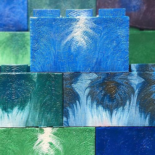 Recycled Plastic Brick wall 8x10 feet - 100 bricks