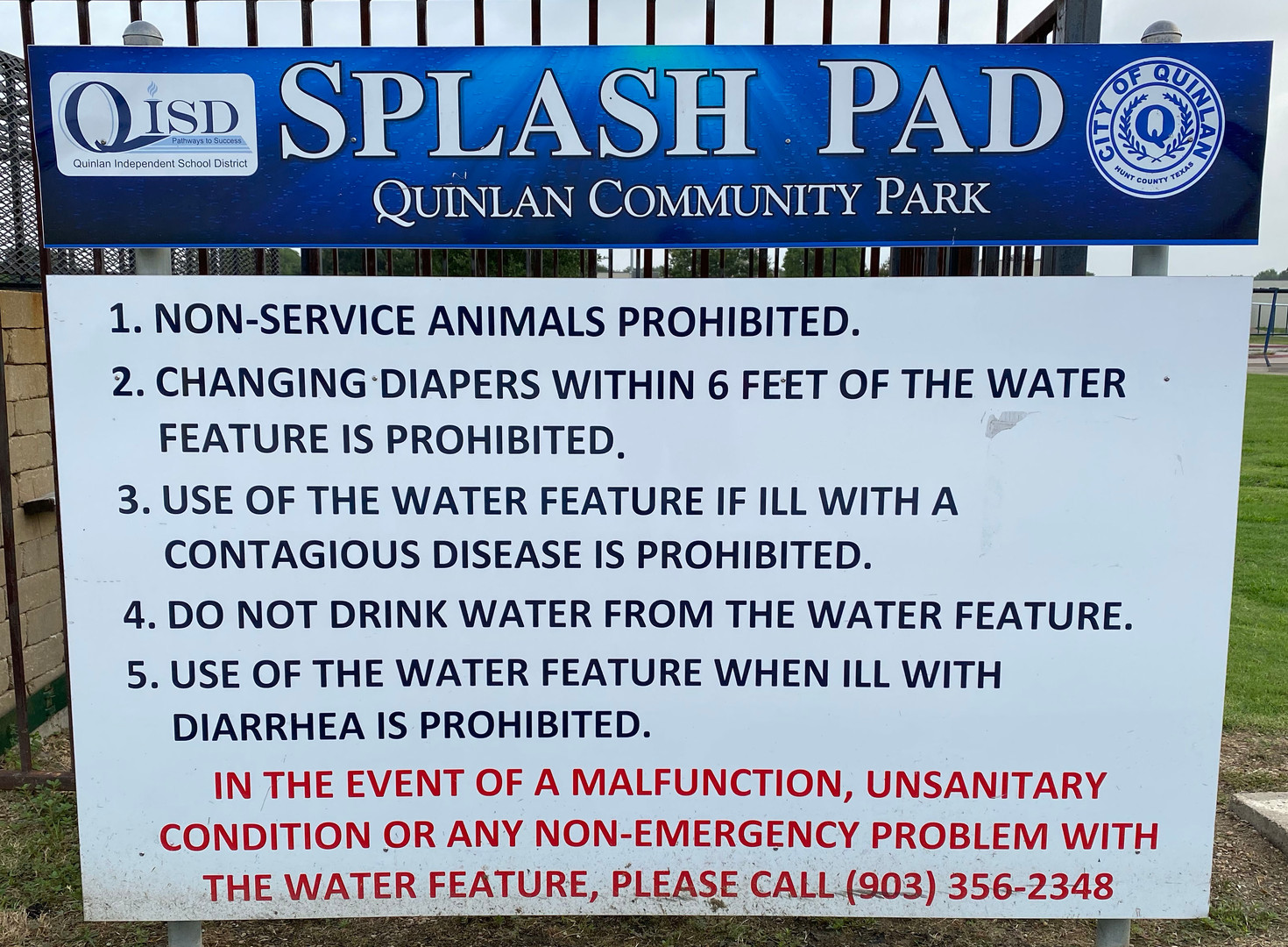 Splash Pad Rules 2