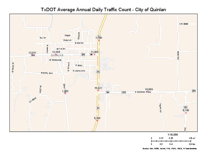 TXDOT Quinal Traffic Map