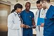 Pulmonary embolism response team meeting to discuss an acute pulmonary embolism case