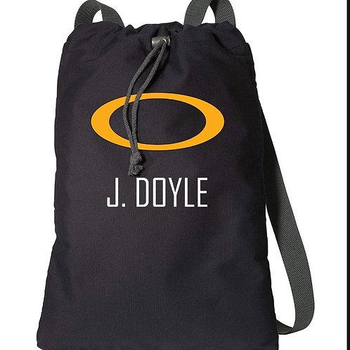 TF Drawstring Bag with Last Name