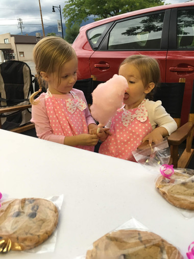 Taking a break from selling cookies!