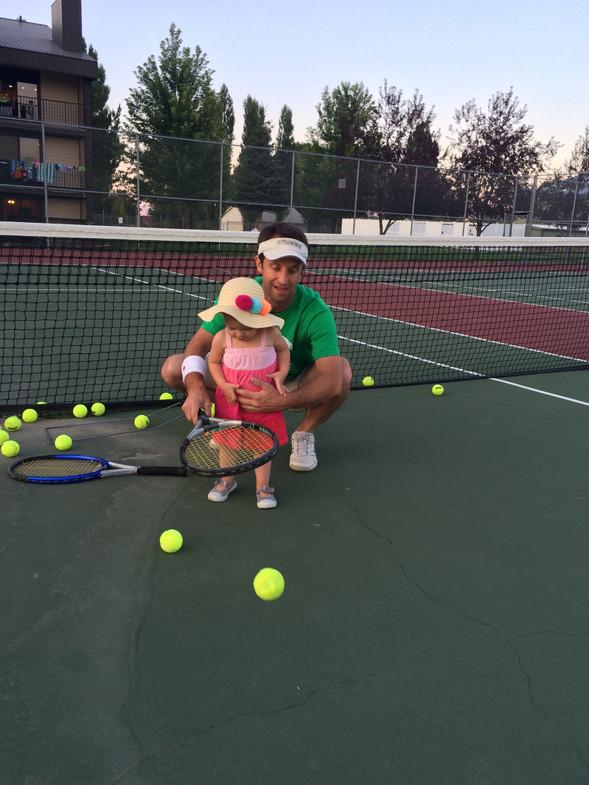 Playing some tennis