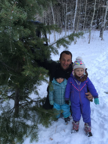 Cutting our Christmas tree