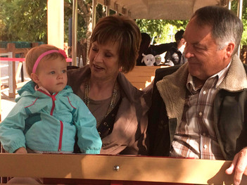 With Grandma and Grandpa at the zoo