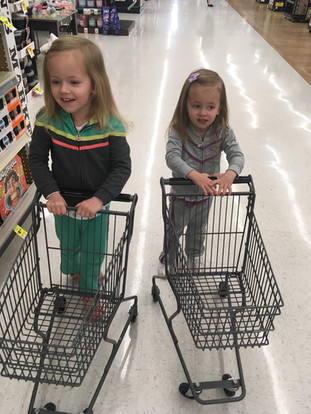 Everybody helping out with the shopping