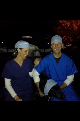 Having fun at Halloween--Yes, Rachel is a nurse...No, Ryan is not a doctor!