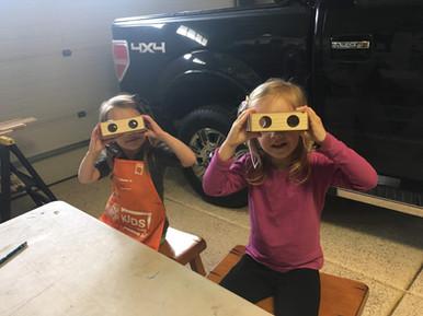 Making binoculars in the garage