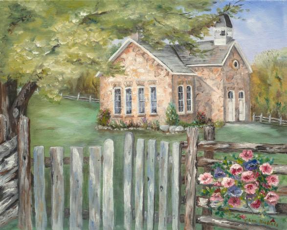 Schoolhouse Blooming 20x16.jpg