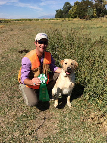 Ryan and his dog at a field trial
