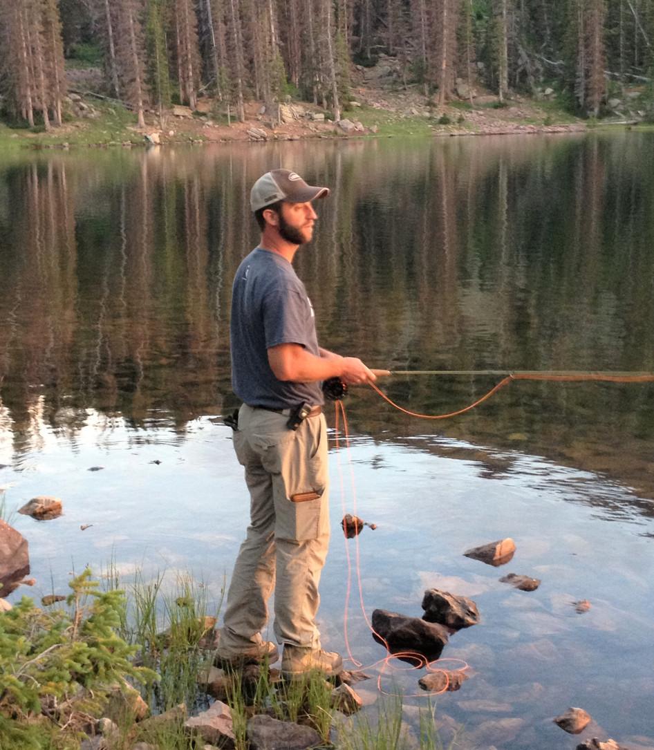 Fly fishing...one of Ryan's favorite hobbies