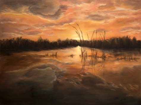 Sunset on the Marsh 36x40.jpg