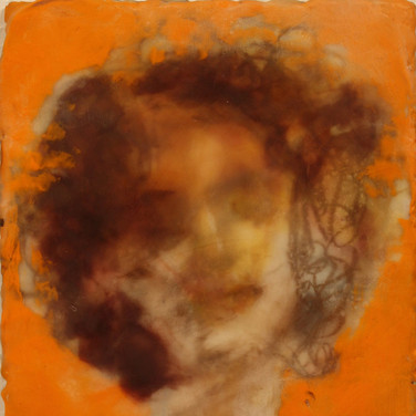 orange creeps into memory, orange self portrait