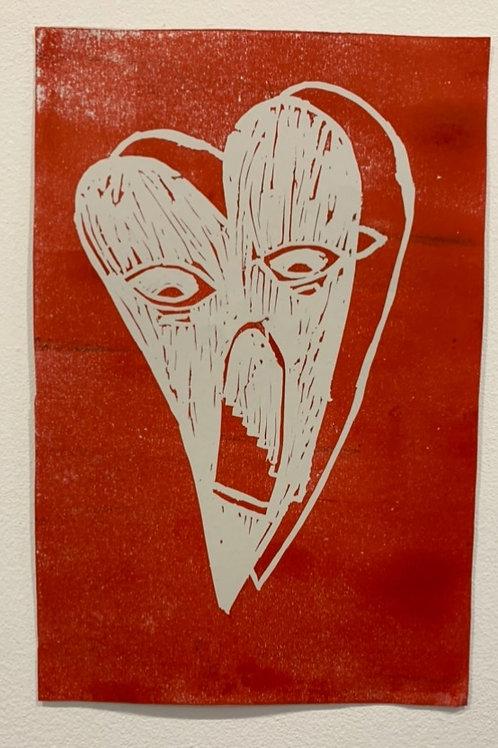 One of a kind Lino print