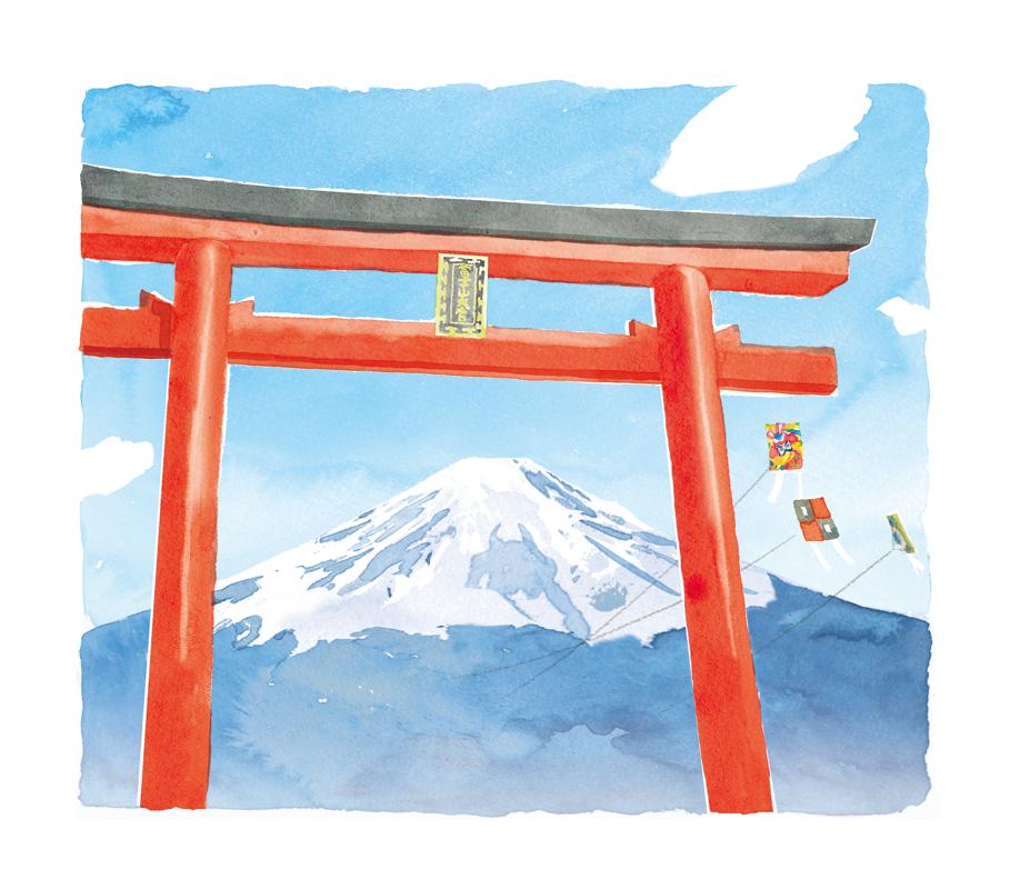 富士山 鳥居 凧