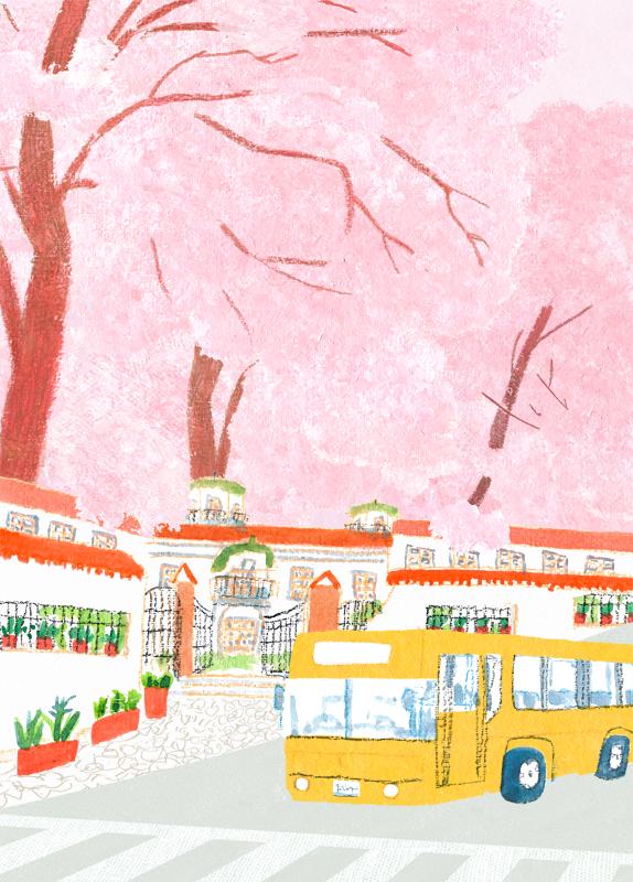 桜色の坂道