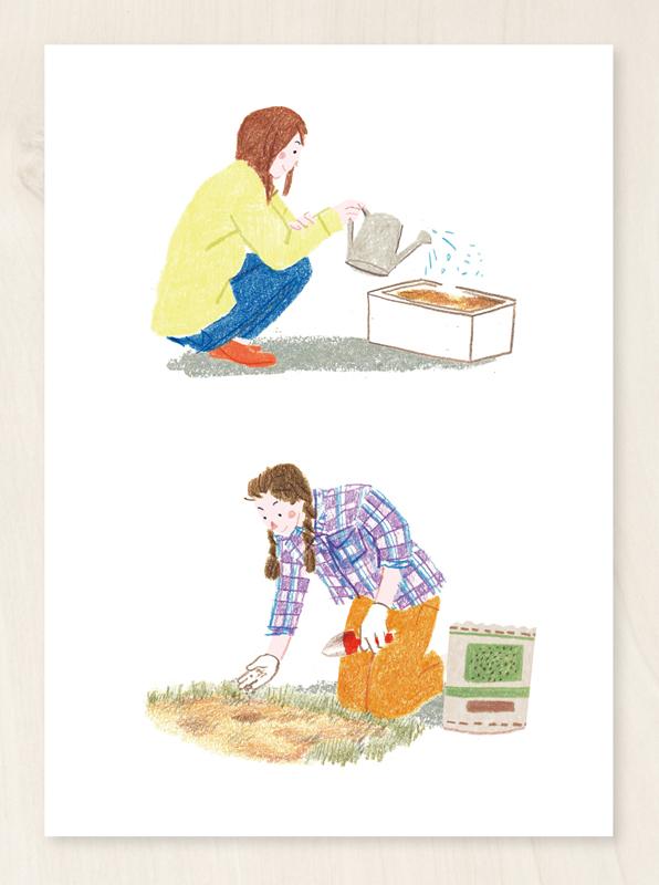 植物 育てる イラスト 女の人