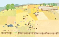農場 豚 イラスト