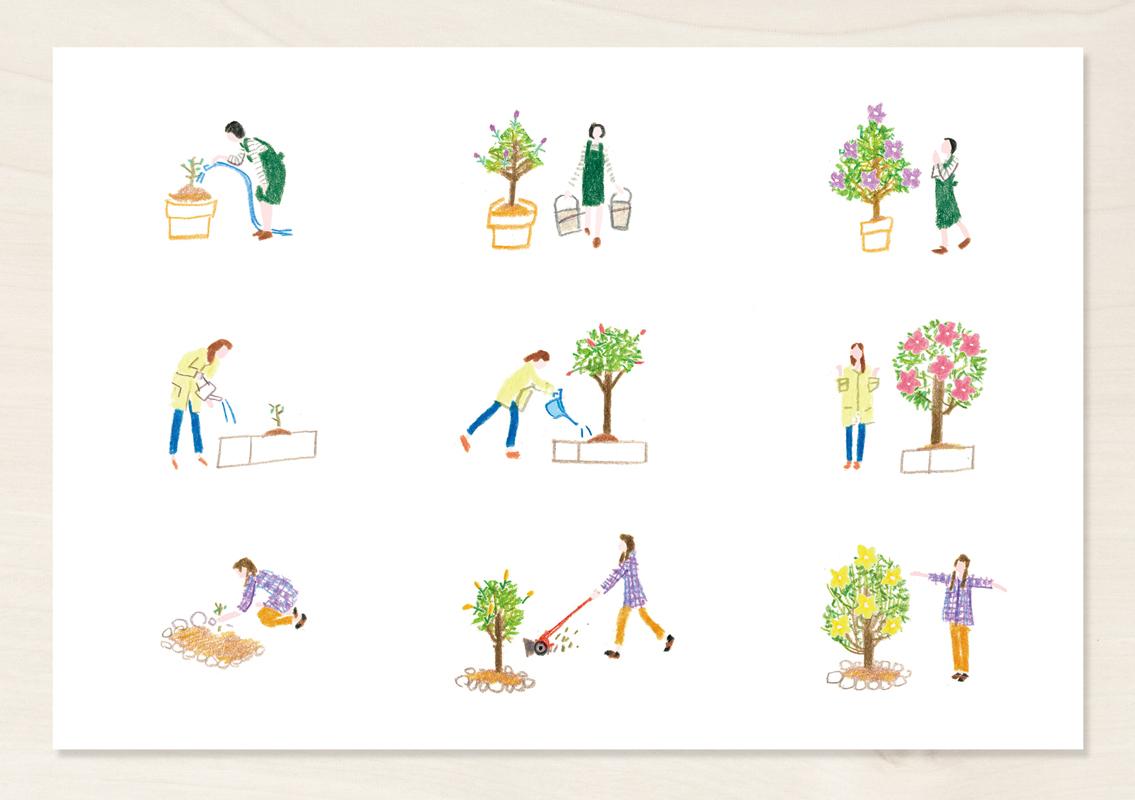 植物 育てる イラスト 人間